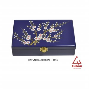 JEWELRYBOX1424 PURPLE WITH BLOSSOM